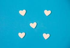 Many white hearts Royalty Free Stock Photo