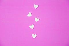 Many white hearts Stock Image