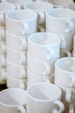 Many white mugs Royalty Free Stock Photography