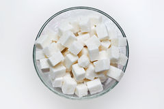 Many White Pieces Of Sugar Royalty Free Stock Photography