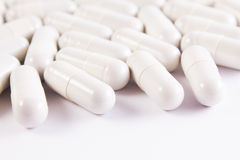Many white pills Royalty Free Stock Image