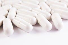 Many white pills Royalty Free Stock Image