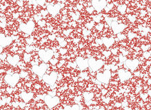 Many white small hearts on red backgrounds Royalty Free Stock Photos