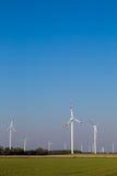 Many wind turbines rotate Royalty Free Stock Photo