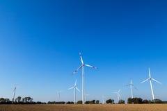 Many wind turbines rotate Royalty Free Stock Photography