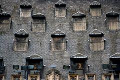 Many windows on the roof Stock Photography