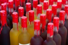 Many wine bottles Stock Photos
