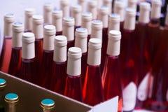 Many wine bottles Royalty Free Stock Image