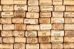 Many wine corks Stock Images