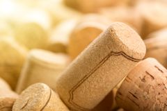 Many wine corks Royalty Free Stock Images