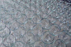 Many wine glasses Royalty Free Stock Images