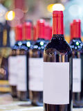 Many wines with blur background Stock Photo