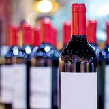 Many wines with blur background Royalty Free Stock Photo