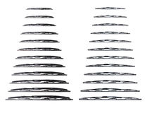 Many wiper blade on a white background. Windscreen wipers on a white background, wiper blade Royalty Free Stock Images