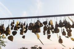 Many wish bells and hearts at Phuket Big Buddha area, landmark o Stock Photos