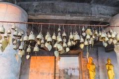 Many wish bells and hearts at Phuket Big Buddha area, landmark o Royalty Free Stock Photos