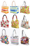 Many womans bags Royalty Free Stock Image