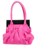 Many womans bags. Photo of many colored isolated bags Stock Photos