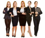 Many women as businesswomen team stock images