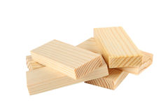 Many wood bricks Stock Image