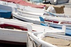 Many wooden boats Stock Photos