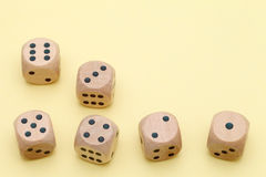 Many wooden dice Stock Photography