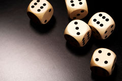 Many wooden dices Stock Photos