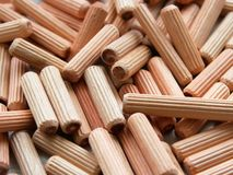 Many wooden dowels texture background royalty free stock image