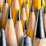 Many wooden pencils Royalty Free Stock Photography