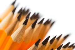 Many Wooden pencils stock photography
