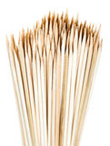 Many wooden skewers Royalty Free Stock Photography