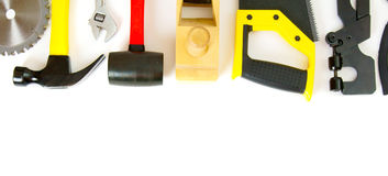 Many working tools - axe, hammer, scissors and Stock Images