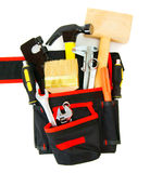Many working tools in the carrying case on white. Working tools in carrying case . Many working tools in the carrying case on white background Stock Photography