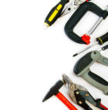 Many working tools - clamp, hammer and others on Stock Photos