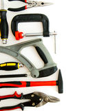 Many working tools - clamp, hammer and others on Stock Photo