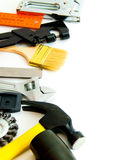 Many working tools - hammer, ruler, spanner and Royalty Free Stock Photo