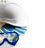 Many working tools - helmet, glove and others on Stock Photos