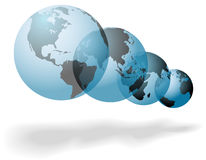 Many worlds of planet Earth overlap Royalty Free Stock Images