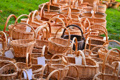 Many woven baskets Stock Photo