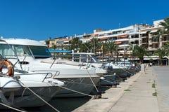 Many yachts and boats. Royalty Free Stock Image