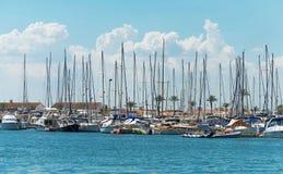 Many yachts and boats. Royalty Free Stock Photography