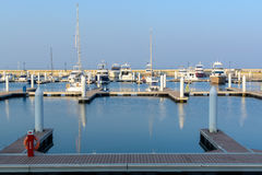 Many yachts and boats in the harbor Royalty Free Stock Image