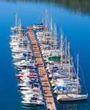 Many yachts lying at Dockyard Kas Royalty Free Stock Image