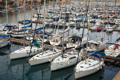 Many yachts. Mediterranean Stock Photos