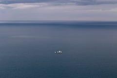 Many yachts at sea. Many yachts at black sea with evening sky stock photos