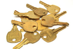 Many yellow bronze keys Royalty Free Stock Photo