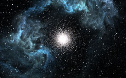 Many young stars are born in the blue Nebula Royalty Free Stock Image