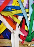 Many zippers Royalty Free Stock Images
