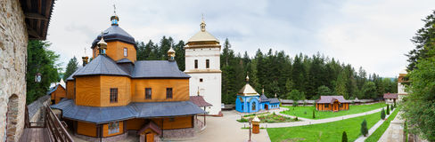 Manyavskyklooster, ivano-Frankivsk Gebied, de Oekraïne stock foto's