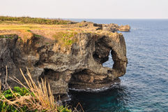 Manzamo Cliff in morning sunlight, Okinawa, Stock Image